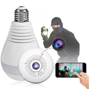 Fisheye Bulb Camera