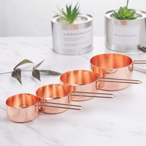 4pc Copper Measuring Cup Set
