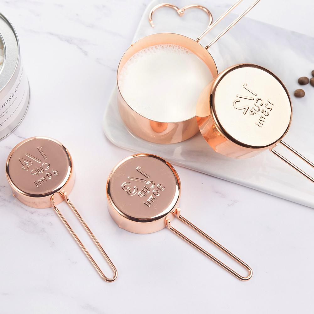 4pc Copper Measuring Cup Set Pama Goods