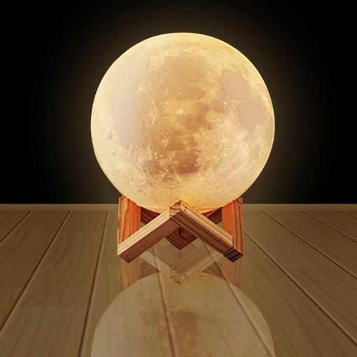 Luna – Moon 3d printed LED night light