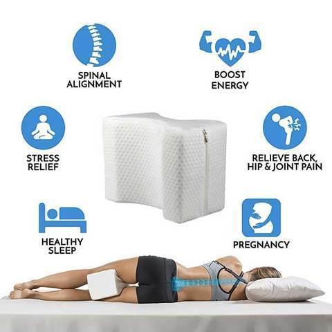 PamaGoods™ The Memory Foam Knee Pillow for Side Sleeper