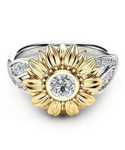 Sunshine Sunflower Ring