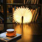 Wood Book LED Lamp