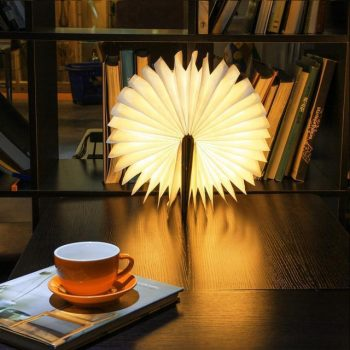 Wood Book LED Lamp