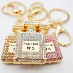 Crystal Charm Perfume Bottle Keychain