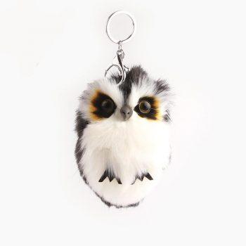 Fluffy Owl KeyChain