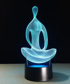 Yoga 3D LED 7 Color Lamp