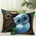 Cute Owl Pattern Pillowcase