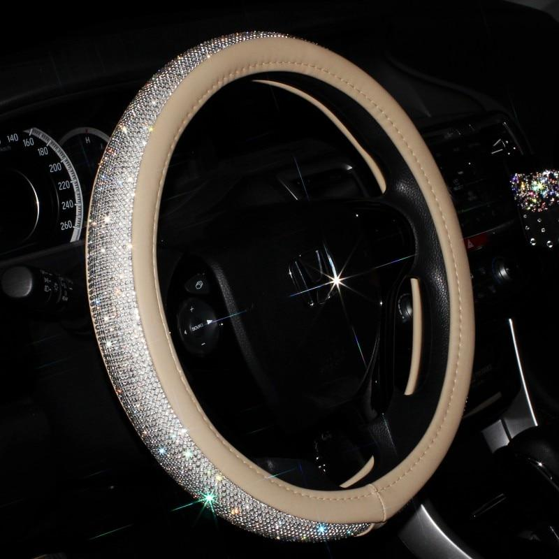 Sparkly Crystal Steering Wheel Cover Pama Goods