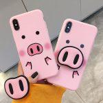 Cute Pig Nose Pop socket Phone Case