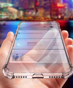 Shock Proof Transparent Silicone Case For iPhone