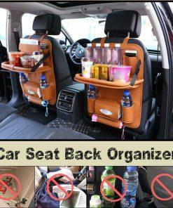 Leather Car Backseat Organizer