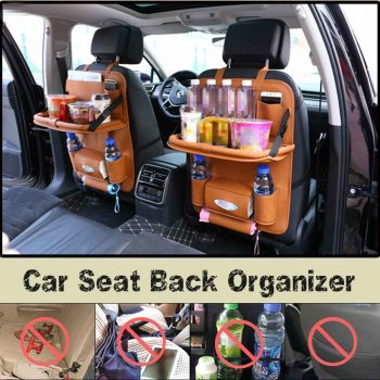 Leather Car Backseat Organizer