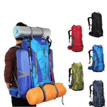 Designer 75L Large Waterproof Outdoor Backpack