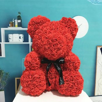Valentine Special: Bear Made Of Roses