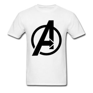 Marvel Avengers Logo T-Shirt Pure Cotton Brands Tees Men's Fashion