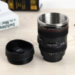 Hand-Crafted Camera Lens Coffee Mug Offer (With Lid)