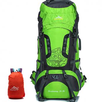 80L Large Outdoor Nylon Waterproof Backpack