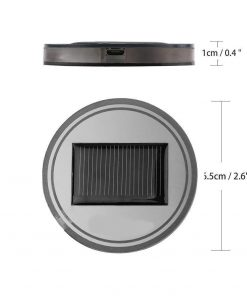 Solar Energy LED Car Cup Holder Mat Pad Waterproof Light Bottle Drinks Coaster (blue light)