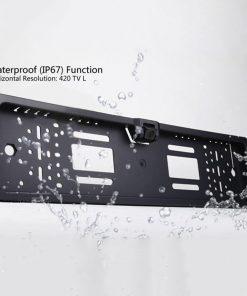 European License Plates Frame Camera Waterproof HD Rear View Reversing Camera  Wide Viewing  Night Vision