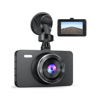 1080P Car DVR Dashboard Camera Full HD with 3″ LCD Screen 170°Wide Angle, WDR, G-Sensor, Loop Recording and Motion Detection