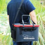 Foldable Waterproof Fishing Bucket Live Fish Container with Handle