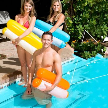 Outdoor Floating Water Hammock – Pool Swimming Lounger Backrest For Adults & Kids