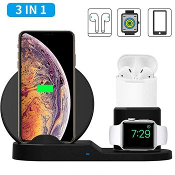 3-in-1 Qi Wireless Charger Dock Station