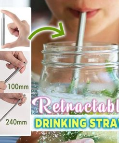 Retractable Drinking Straw