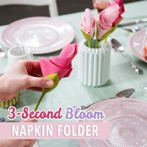3-Second Bloom Napkin Folder