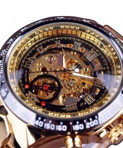 Men's Skeleton Automatic Mechanical Watch