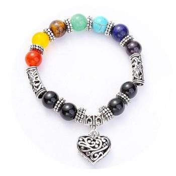 7 Chakra Reiki Power Heart Bracelet