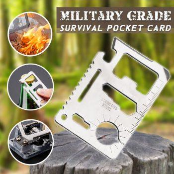 Multi-functional Survival Pocket Card