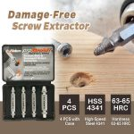 Damage-Free Screw Extractor(Set of 4)
