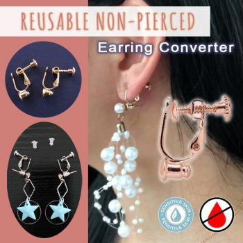 Reusable Non-Pierced Earring Converter (3 Pairs)