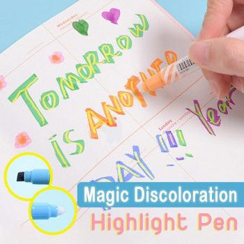 Magic Discoloration Highlight Pen(Set of 6)