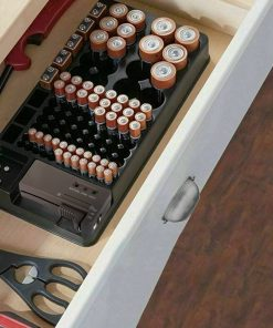 Battery Storage Organizer Holder with Tester