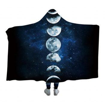 Moon Phases Hoodie Blanket
