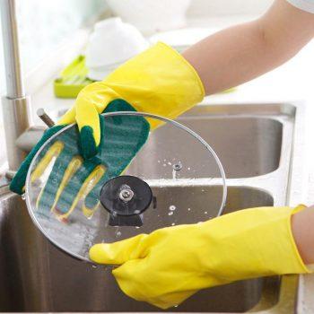 Scrub Dishwashing Gloves