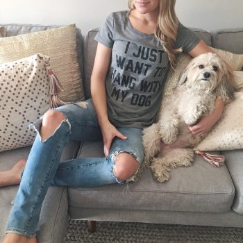 """Hang With My Dog"" T-Shirt"