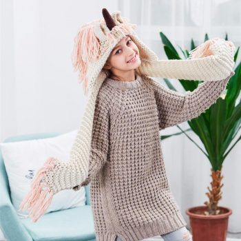 Unicorn Crochet Scarf