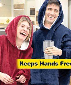 Huggle Hoodie – Super Soft Warm Outdoor Adult Huggle Hoodie Pocket Hoodie