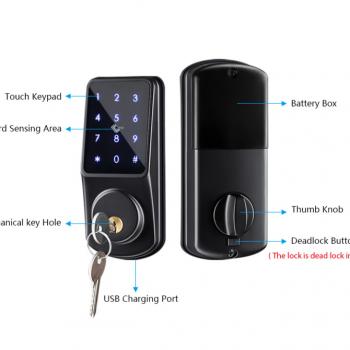 Smart Lock Keyless Entry Deadbolt Door Locks