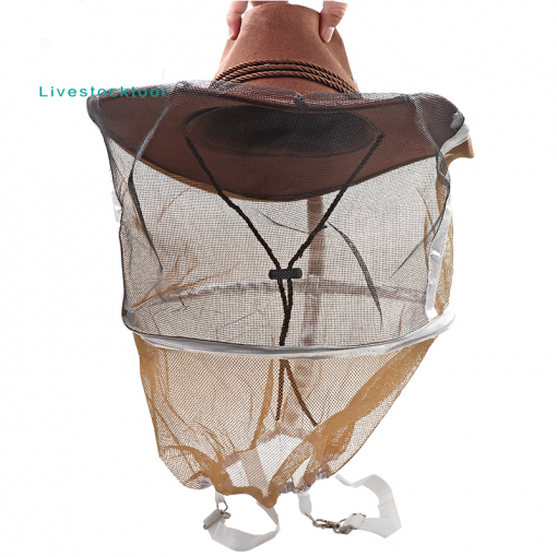 Beekeeping Hat Beekeeper Cowboy Hat Mosquito Bee Insect Net Veil Face Protector