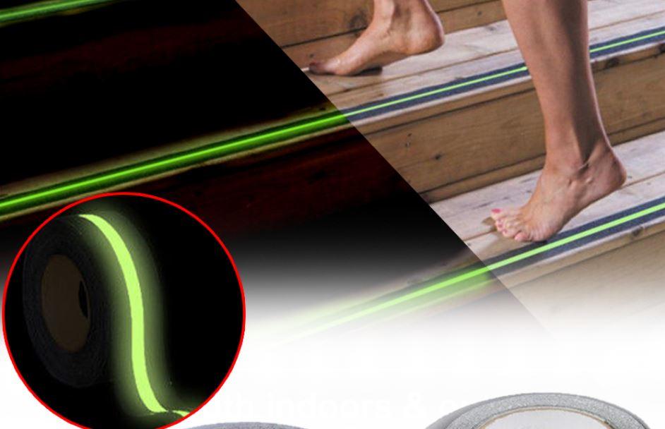 Safety Luminous Anti Slip Traction Tape - Indoor Outdoor Safety Tape