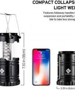 Battery Camping Lantern Powered Lights for Power Outages