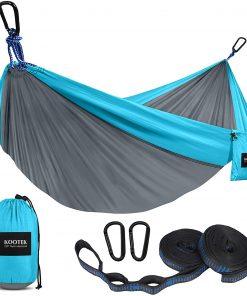 Camping Hammock Double & Single Portable Hammocks with 2 Tree Straps