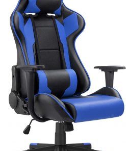 Ergonomic Massage Gaming Chair – Blue