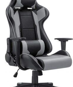 Ergonomic Massage Gaming Chair – Grey