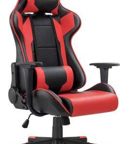 Ergonomic Massage Gaming Chair – Red